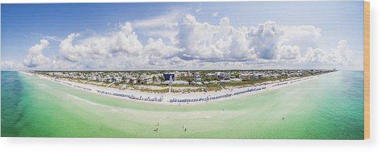 Seaside Florida Gulf Aerial Wood Print