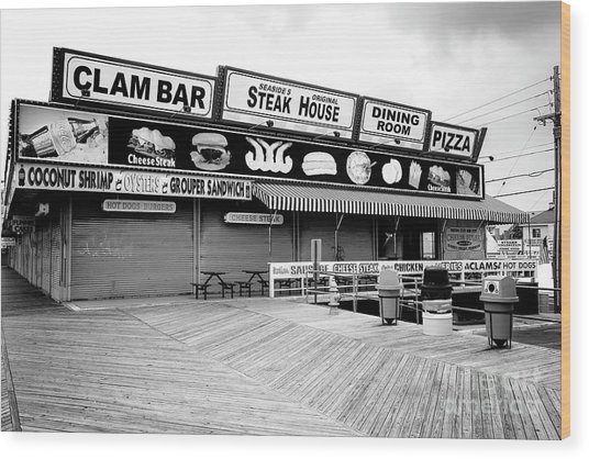 Seaside Heights Boardwalk Dining Wood Print