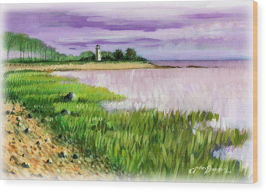 Seaside Park Wood Print