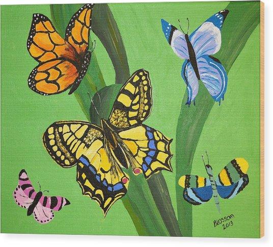 Season Of Butterflies Wood Print