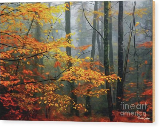 Season's Colors Wood Print
