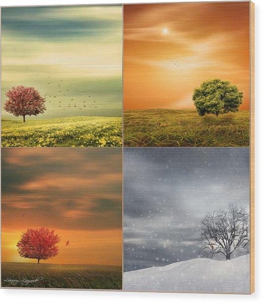 Seasons' Delight Wood Print