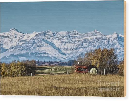 Wood Print featuring the photograph Season's End by Brad Allen Fine Art