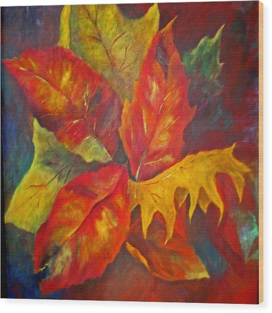 Seasons End Wood Print by Carolyn Saine