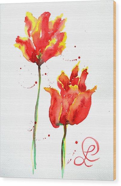 Season's First Tulips Wood Print