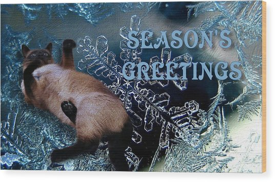 Seasons Greetings Wood Print