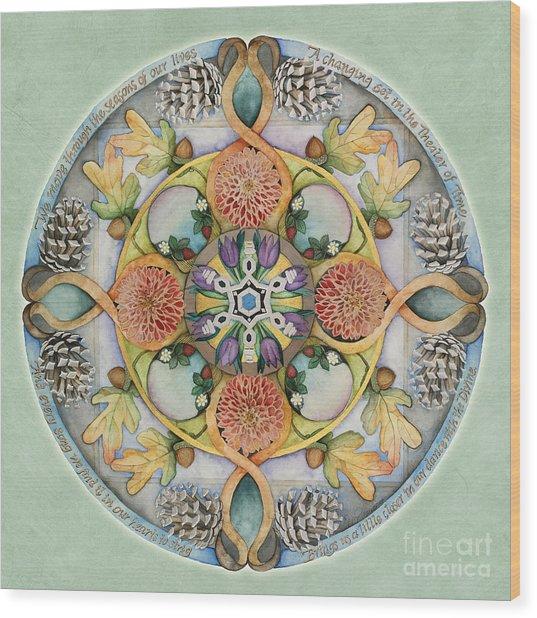 Seasons Mandala Wood Print