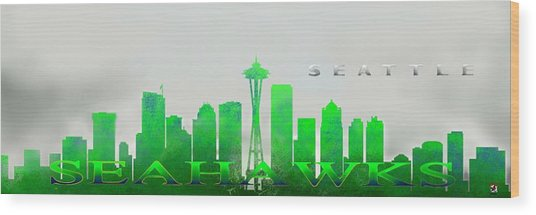 Seattle Greens Wood Print