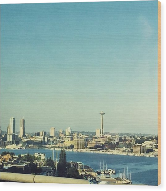 Seattle In The Morning #seattle Wood Print