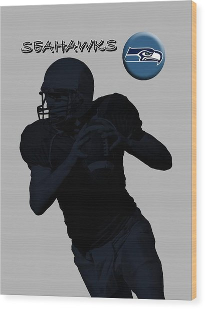 Seattle Seahawks Football Wood Print