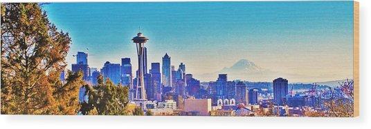 Seattle Sky Wood Print
