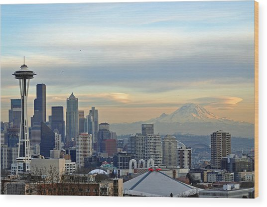 Seattle Skyline Wood Print by Matthew Adair