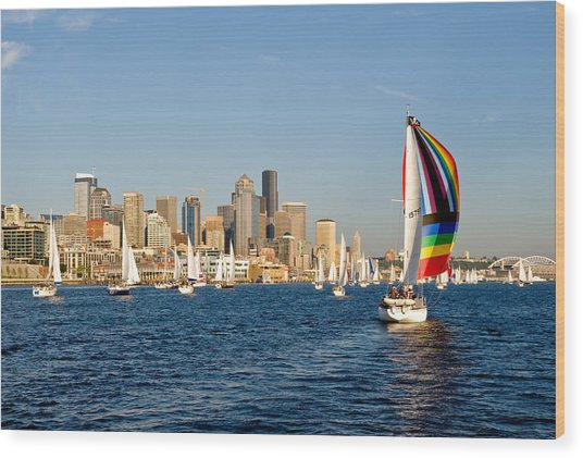 Seattle Tack Wood Print by Tom Dowd