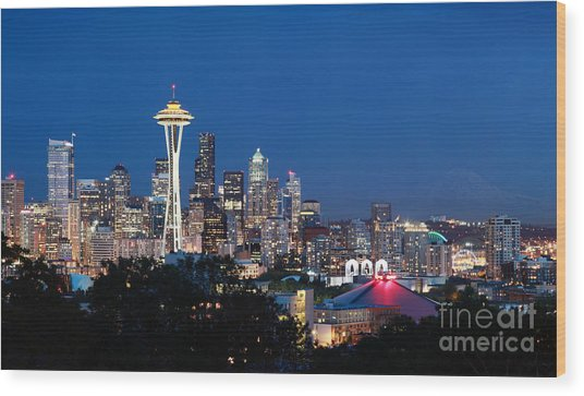 Seattle Twight Wood Print