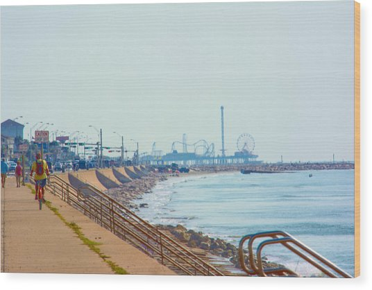 Seawall Blvd Wood Print