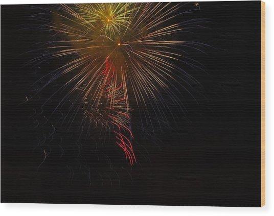 Seaworld Fireworks 3 Wood Print
