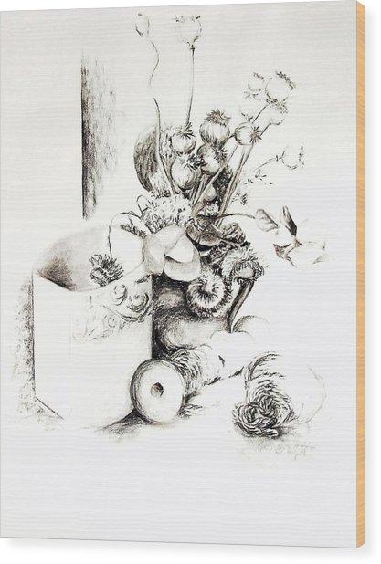 Sec Wood Print by Muriel Dolemieux