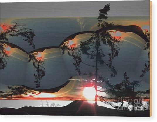 Sechelt Tree 12 Wood Print