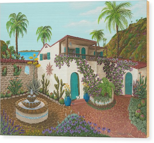 Secluded Paradise Wood Print
