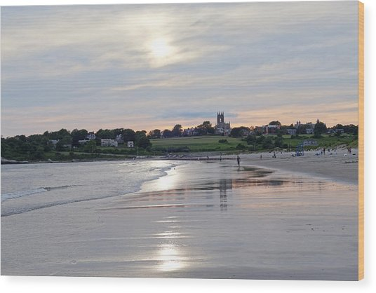 Second Beach Newport Ri Wood Print