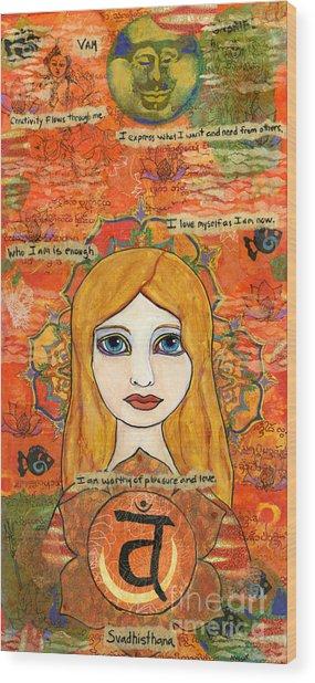 Second Chakra Wood Print