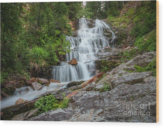 Wood Print featuring the photograph Secret Falls by Spencer Baugh