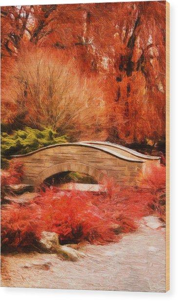 Secret Footbridge Wood Print