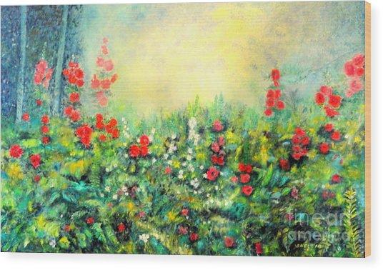 Secret Garden 2 - 150x90 Cm Wood Print