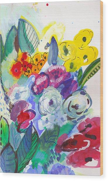 Secret Garden With Wild Flowers Wood Print