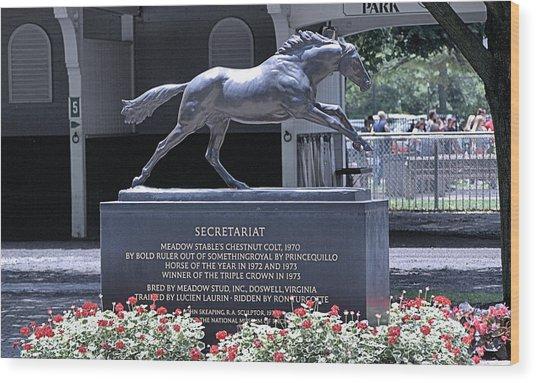 Secretariat Wood Print