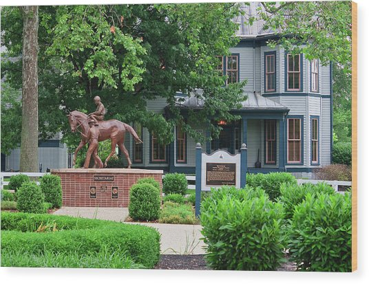 Secretariat Statue At The Kentucky Horse Park Wood Print