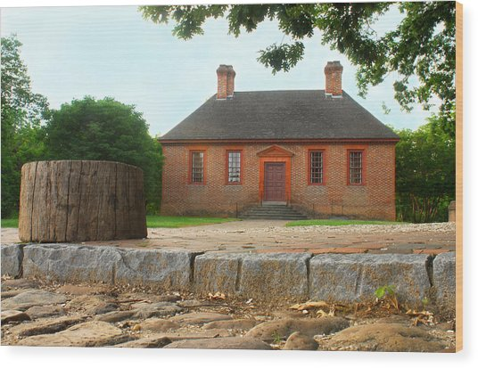 Secretary House - Williamsburg Va Wood Print by Panos Trivoulides