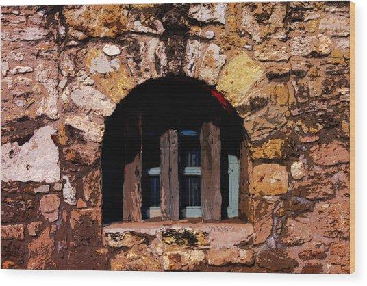 Secured--the Alamo Wood Print