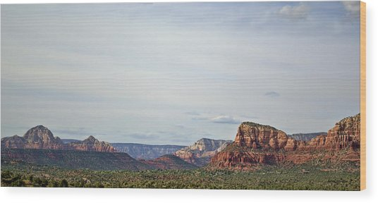 Sedona Arizona Panorama I Wood Print