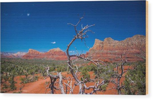 Sedona Blue Wood Print