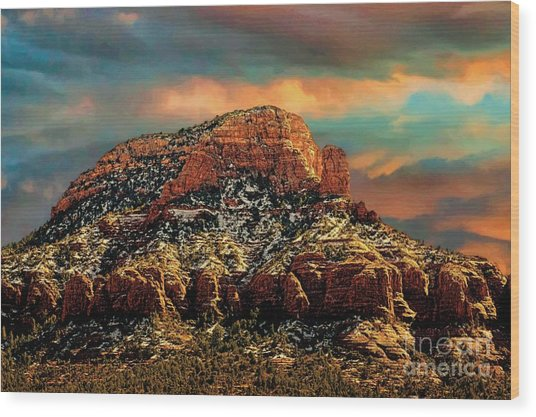 Sedona Dawn Wood Print