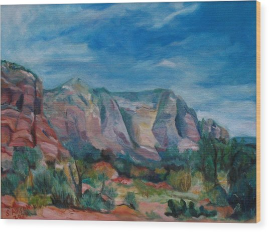 Sedona II Wood Print by Stephanie Allison