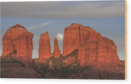 Sedona Moon Wood Print