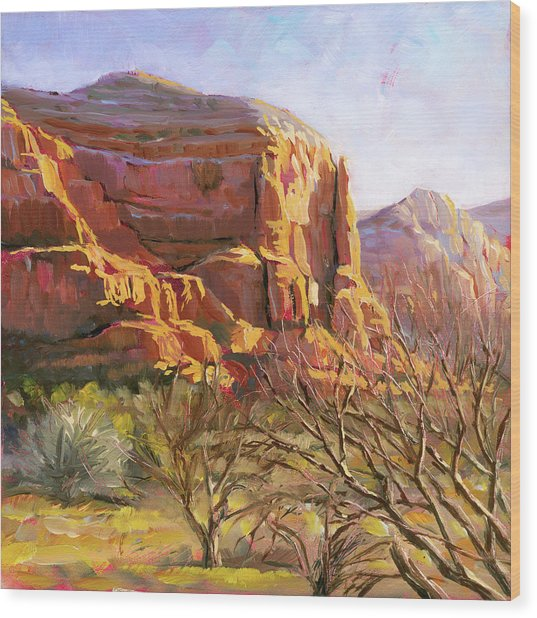 Sedona Morning Wood Print