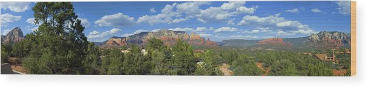 Sedona Panoramic Wood Print