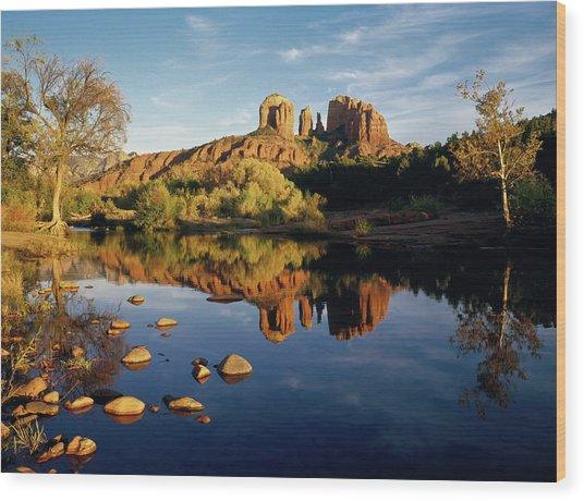 90114 Sedona Redrock Wood Print