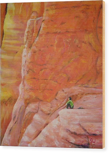 Sedona Rocks Wood Print