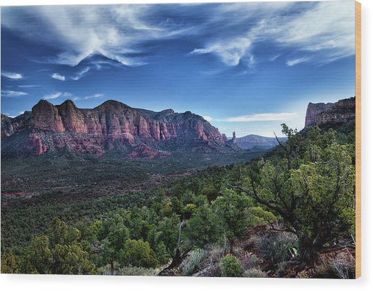 Sedona Skyline Wood Print