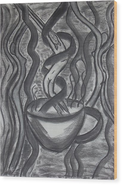 Seduction Wood Print by Marsha Ferguson