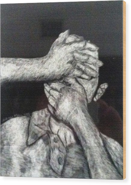 See And Speak No Evil Wood Print by Andrew Blitman