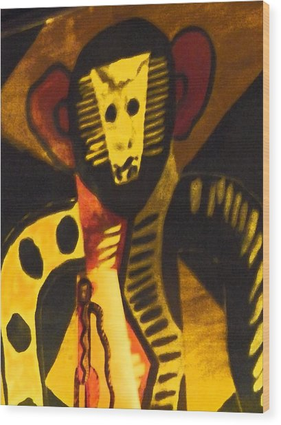 See No Evil Wood Print by Florene Welebny