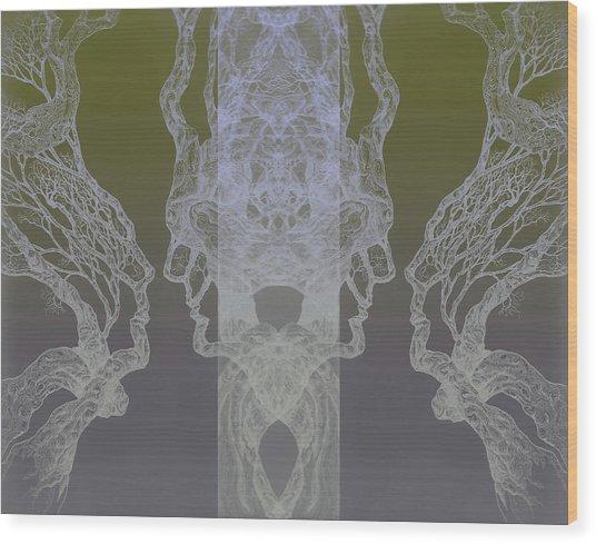 See Oneself Tree 11 Hybrid 3  Wood Print