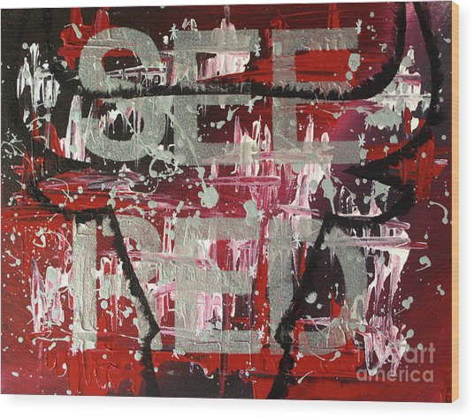 See Red Chicago Bulls Wood Print
