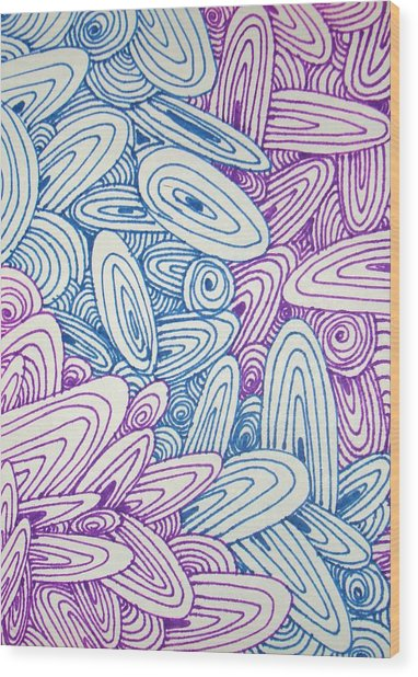 See Study Twenty Wood Print by Ana Villaronga
