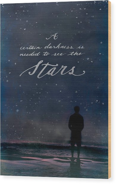 See The Stars Wood Print